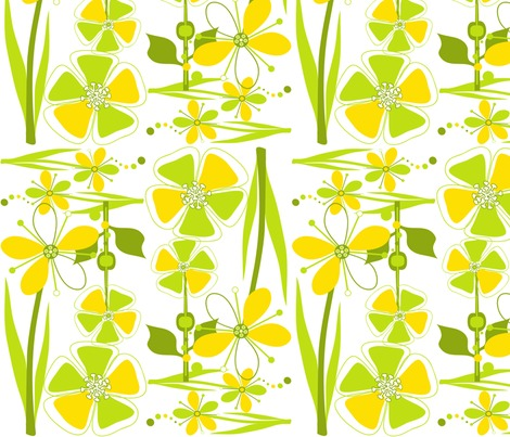 Rrmodflowerssunshine_chartreuse12x12single