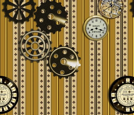 Rgears__clocks_and_fleur_de_lis_on_a_striped_background_bublitz_jewelers_contest85343preview