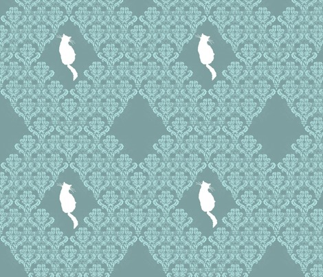 Raqua_gray_teal_damask_seamless_white_cats_contest83587preview