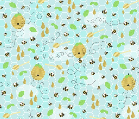 Rbee_golden_large_blue_sky_fabric_contest98172preview