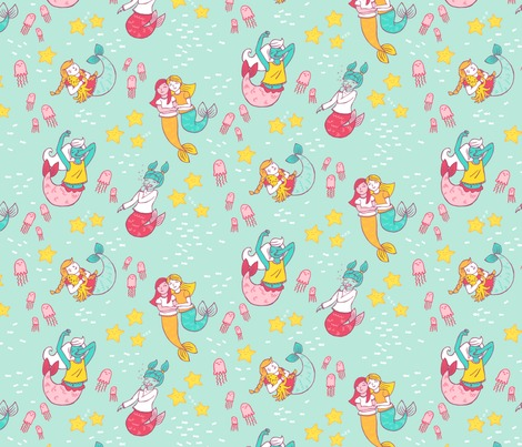 Rrmermaid_sleepover_copyright_pinkywittingslow_2015_on_spoonflower-01_contest100713preview
