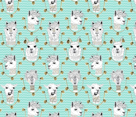 Rllama_pattern_teal-sf_contest103557preview